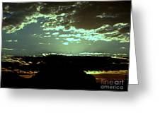 pr 171 - Green Sunset II Greeting Card