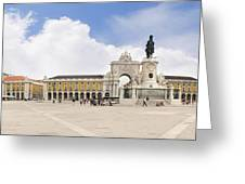 Praca Do Comercio, The Square Of Commerce Greeting Card