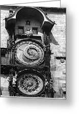 Prague Astronomical Clock 1410 Greeting Card