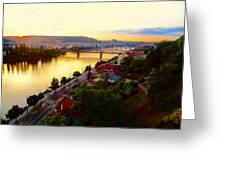 Prague At Sundown Greeting Card