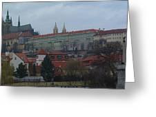 Prague Castle In Prague Czech Republic Greeting Card