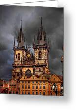Prague Cathedral Greeting Card