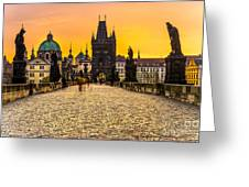 Prague - Charles Bridge - Czech Republic Greeting Card