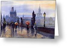 Prague Charles Bridge Greeting Card