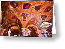 Prague Church Ceiling Greeting Card