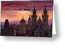 Prague City Of Hundres Spiers Greeting Card