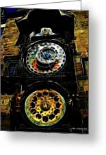 Prague Clock Greeting Card