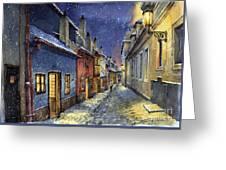 Prague Golden Line Winter Greeting Card