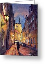 Prague Husova Street Greeting Card by Yuriy  Shevchuk