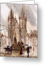 Prague Iv Greeting Card by Svetlana and Sabir Gadghievs
