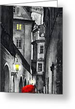 Prague Love Story Greeting Card by Yuriy  Shevchuk