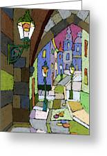 Prague Old Street Mostecka Greeting Card
