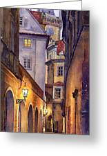 Prague Old Street  Greeting Card