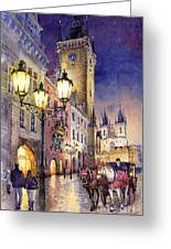 Prague Old Town Square 3 Greeting Card by Yuriy  Shevchuk