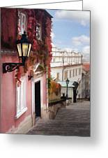 Prague Stairs Greeting Card