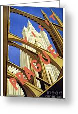 Prague Travel Poster Greeting Card