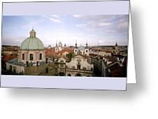 Prague Twilight Greeting Card
