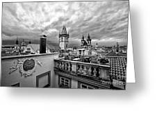 Prague View From The Top Greeting Card