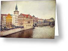 Prague View Greeting Card