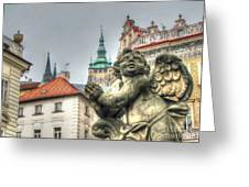 Praha Church Greeting Card