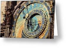 Praha Orloj Greeting Card