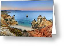 Praia Do Camilo At Sunset  Greeting Card