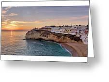 Praia Do Carvoeiro Sunset Greeting Card