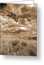 Prairie And Sky Greeting Card