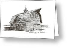 Prairie Barn Greeting Card by Rick Stoesz