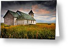 Prairie Church Greeting Card