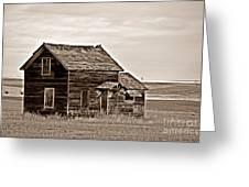 Prairie Home Sepia Greeting Card