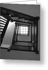 Prairie House Stairs Greeting Card