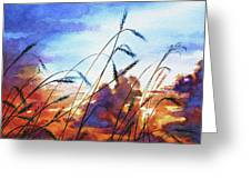 Prairie Sky Greeting Card by Hanne Lore Koehler