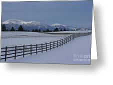 Prairie Snow Greeting Card