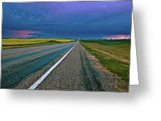 Prairie Storm Saskatchewan Greeting Card
