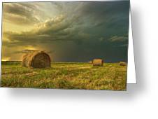 Prairie Storms Greeting Card by Stuart Deacon