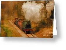 Prairie Train Greeting Card by Skye Ryan-Evans