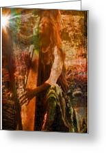Praise Him With The Harp II Greeting Card