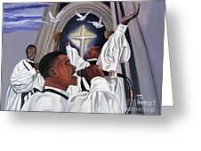 Praising God Greeting Card