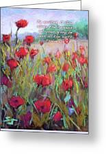Praising Poppies With Bible Verse Greeting Card