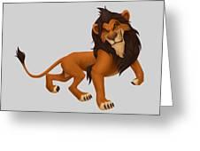 Prancing Lion Greeting Card