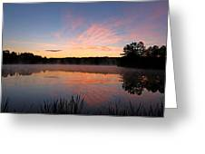 Prat Pond Morning Greeting Card
