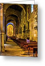 Prayers In The Cathedral Greeting Card