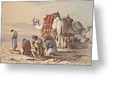 Prayers In The Desert Greeting Card