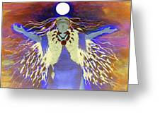 Praying Goodnight To The Moon Greeting Card