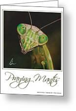 Praying Mantis Poster Greeting Card
