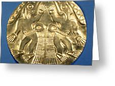 Pre-columbian Gold, 1000 Ad Greeting Card