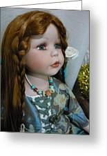 Pre Raphaelite Doll  Greeting Card