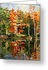 Prentiss Pond, Dorset, Vt., Autumn Greeting Card