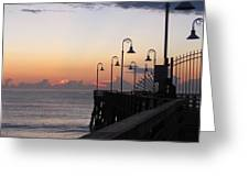 Pre-sunrise On Daytona Beach Pier   Greeting Card